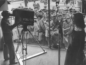 Photo for Crowd Gathers for a 1947 Television Demonstration