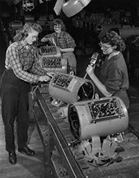 Photo of Women War Workers in Factories During World War II