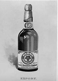 Photo of Beer Bottle with Export Label from Pabst Brewing Company