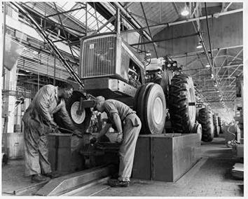 Photo of Tractor Production Line at Allis-Chalmers in 1960s