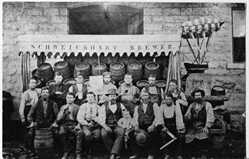 Photo of Schweickhart Brewery Employees Portrait