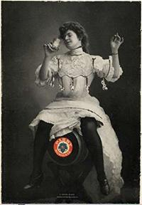 Photo of Woman atop Pabst Beer Keg