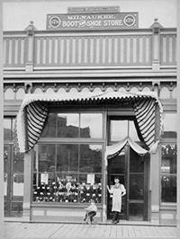 Photo of Ebner Family's Milwaukee Boot and Shoe Storefront