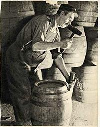 Photo of Cooper at Work at Blatz Brewery