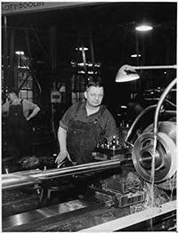 Photo of Fred Kroggel on Line at Koehring Company