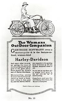 Photo of Harley-Davidson Advertisement with Woman