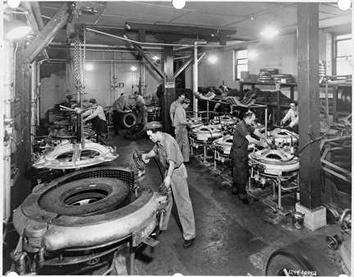 Photo of H. O. Stenzel, Mold Room of the Re-Tread Plant
