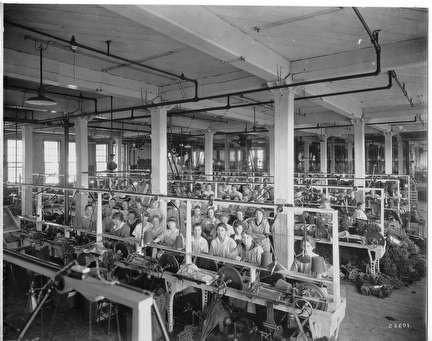 Photo of Women at Machines at National Knitting