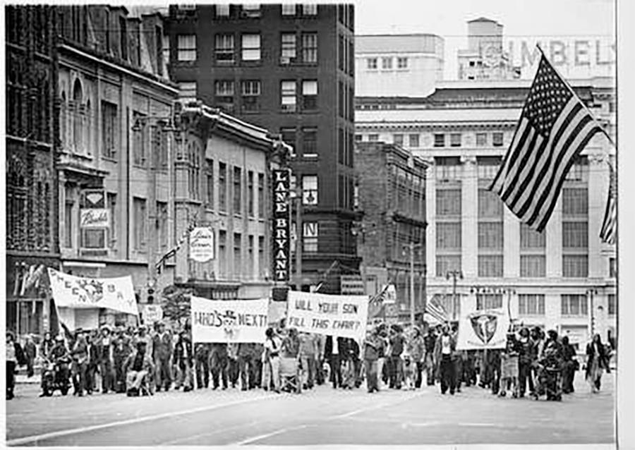 Photo of Bugle American Demonstration Downtown Milwaukee