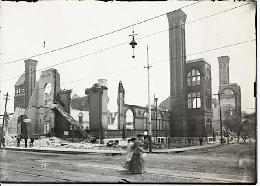 Photo of Exposition Building After Fire
