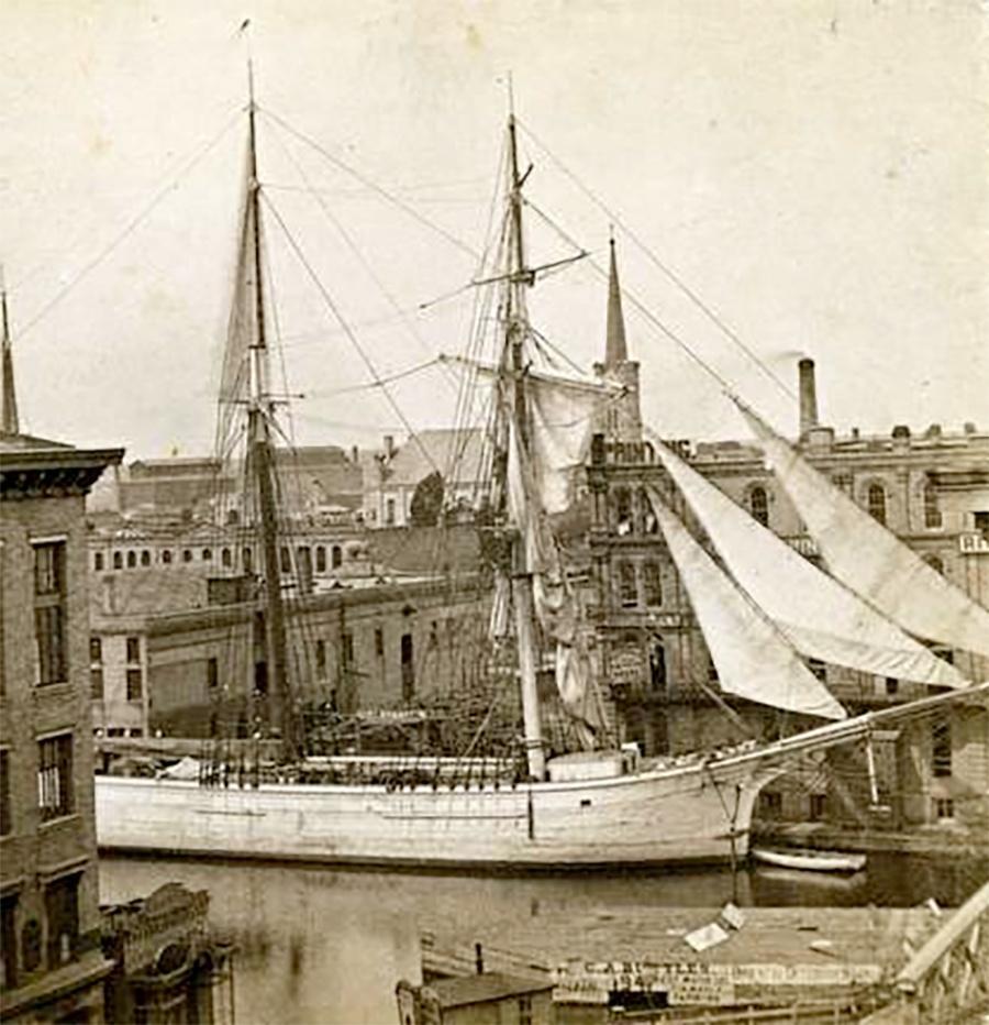 Photo of Schooner on River Downtown
