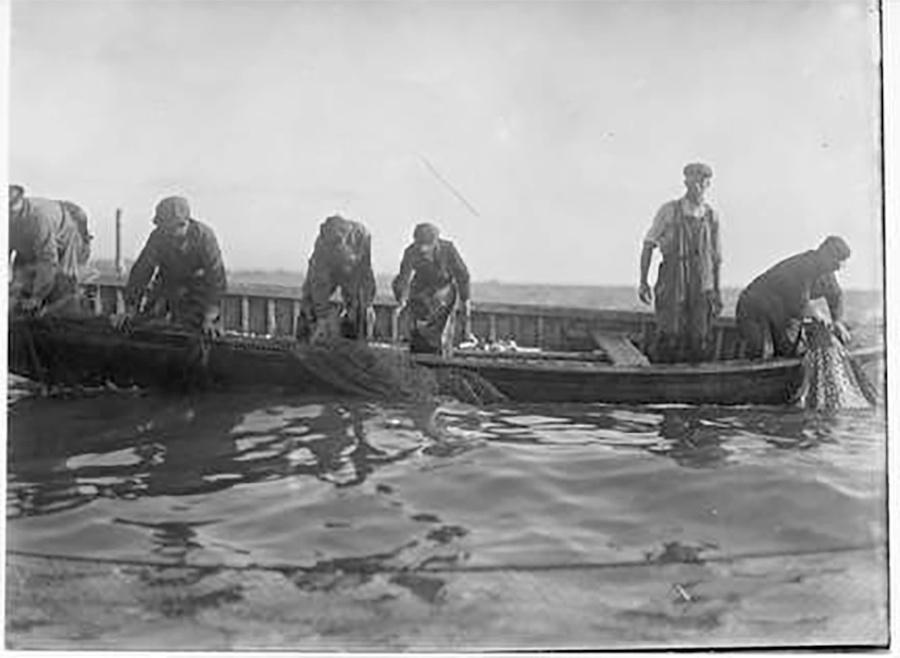 Photo of Jones Island Fishermen in Boat