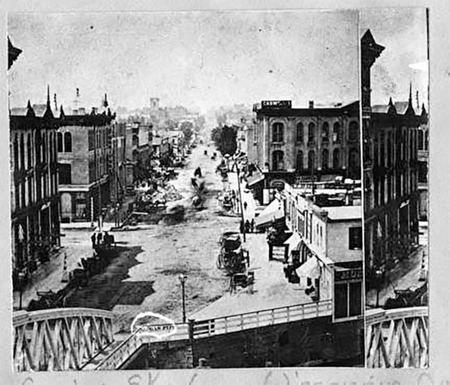 Photo of Streetscene, Wisconsin Avenue, looking west