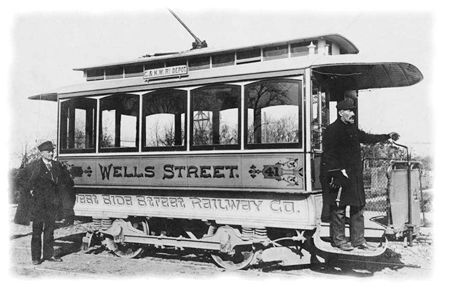 Photo of West Side Street Railway Company Electrified Trolley
