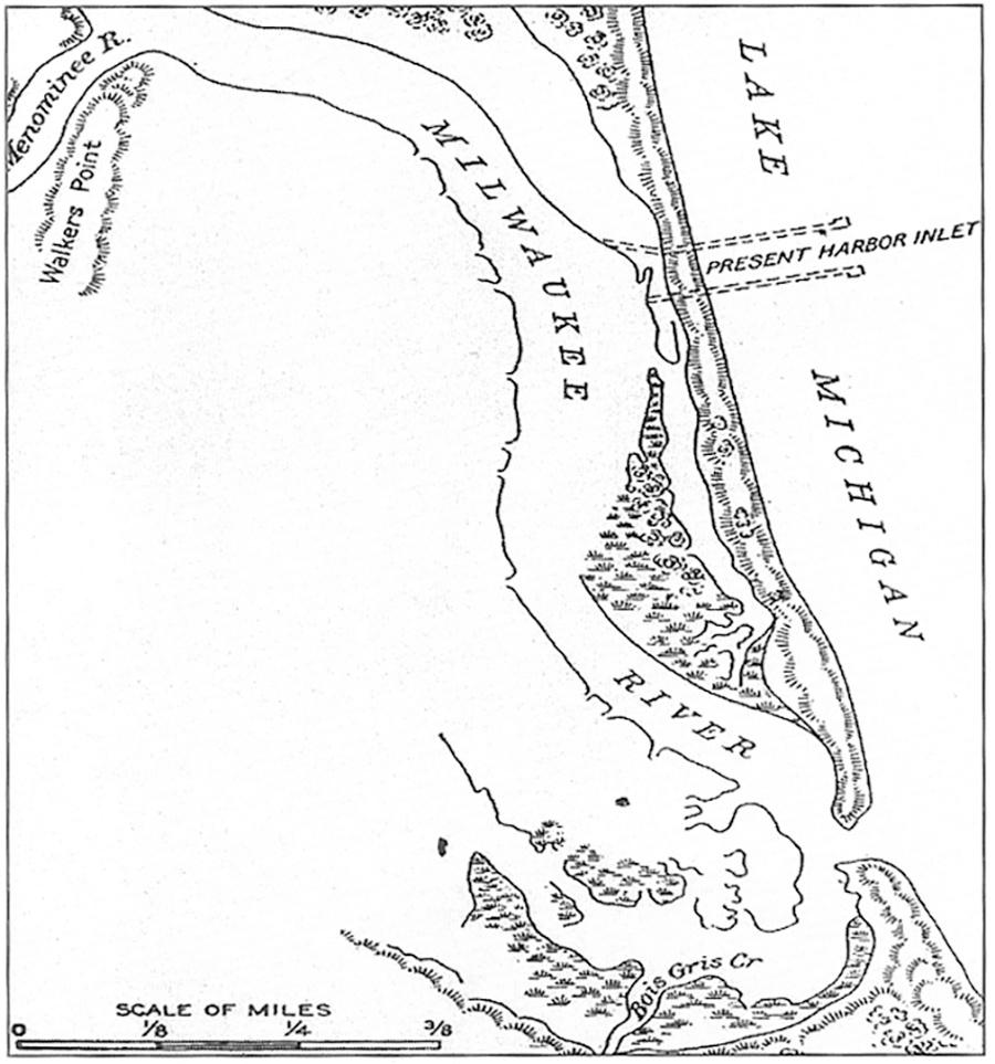 Photo of Early Harbor Map Suggesting New Inlet