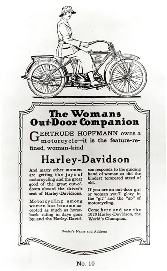 Harley-Davidson Advertisement with Woman