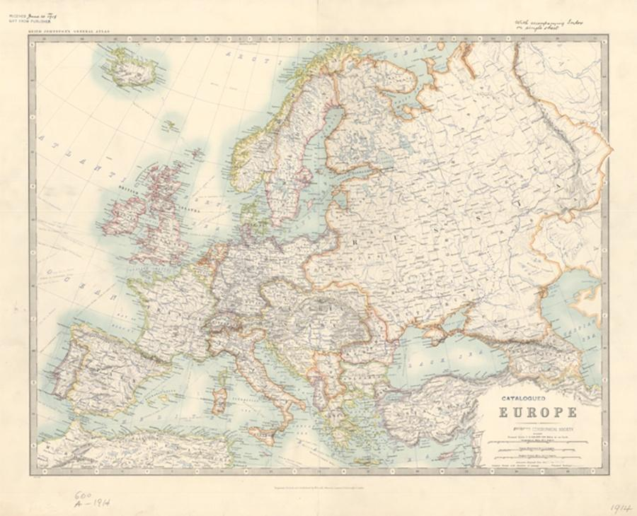 Photo of 1914 Map of Europe