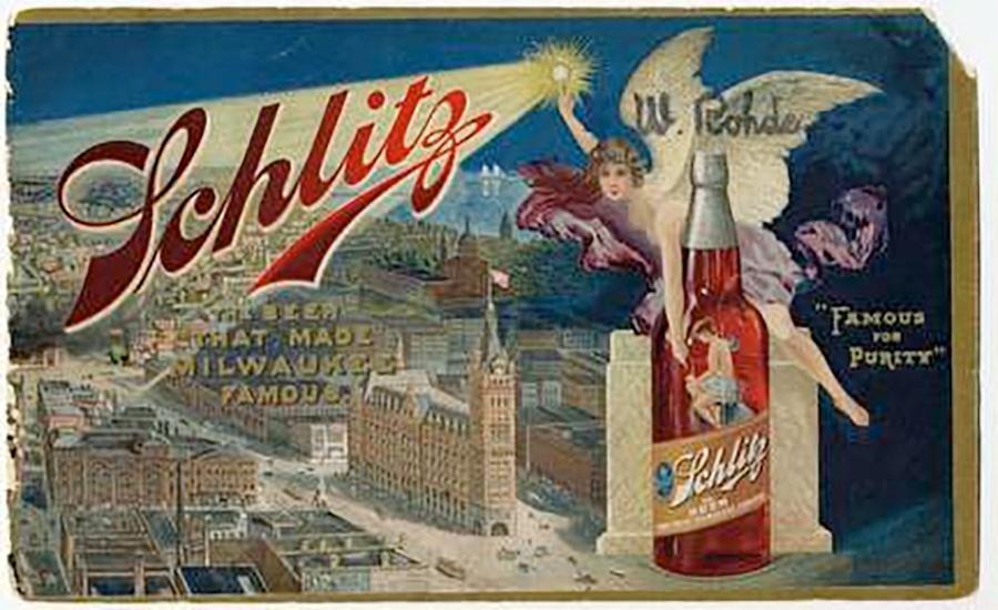 Photo of Schlitz Brewing Company Color Label