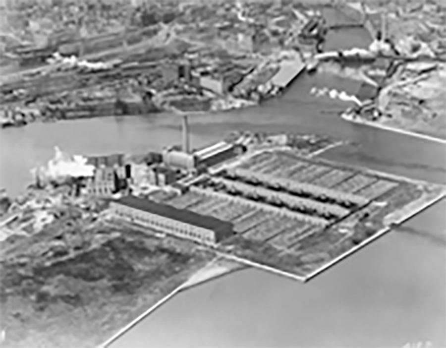 Photo of Milwaukee Water Treatment Plant on Jones Island