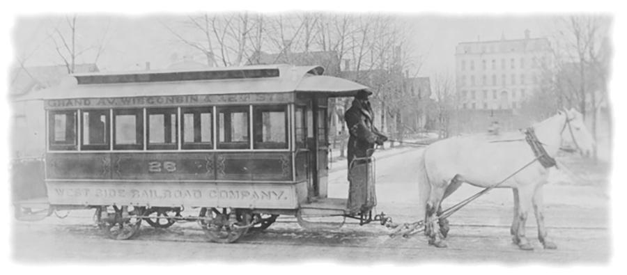 Photo of West Side Railroad Company's Trolley on Grand Avenue