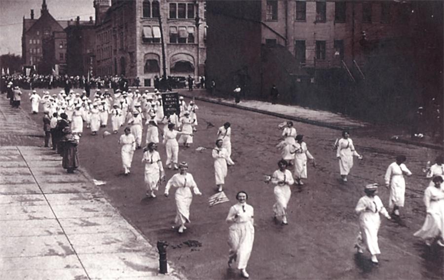 Photo of Polish Women's Alliance demonstrating Slavic support