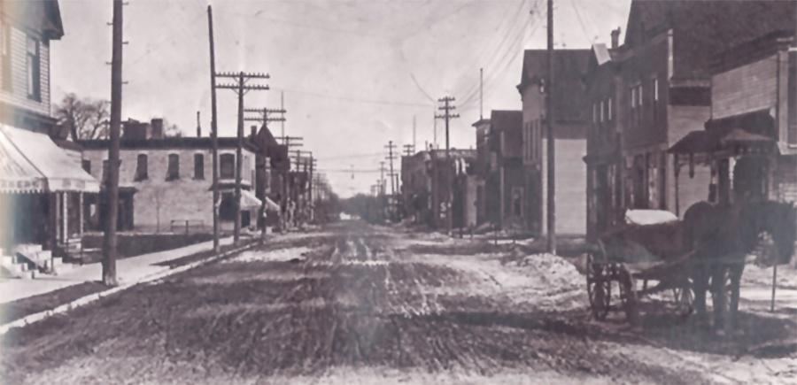 Photo of Villard Avenue in early 1900s
