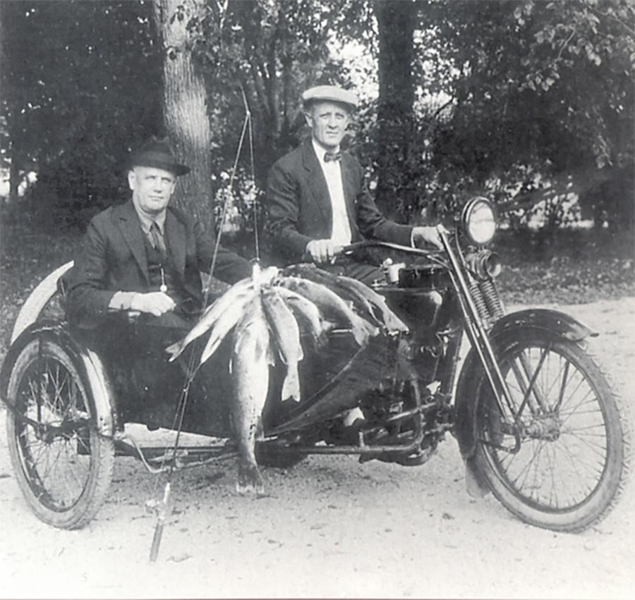 Photo of William Harley and William Davidson on fishing trip