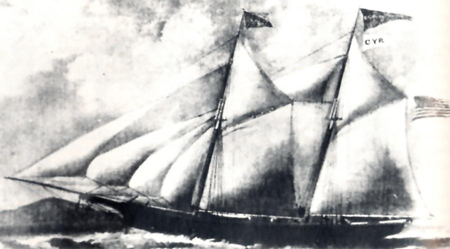 Photo of Dean Richmond Schooner was the first ship to carry wheat