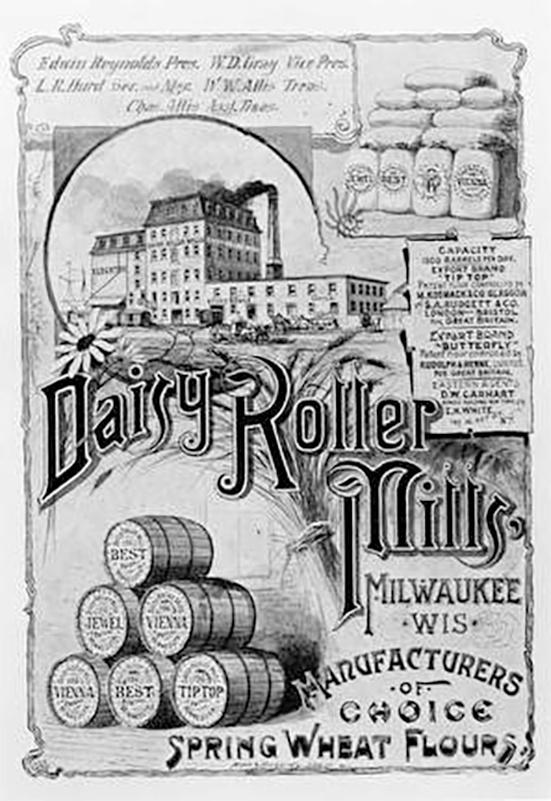 Poster Ad of Daisy Roller Flour Mill