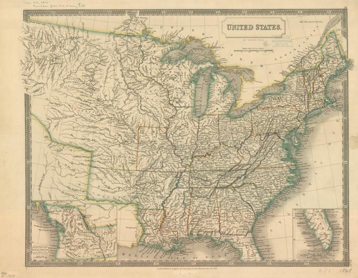 Photo of 1828 Map of United States