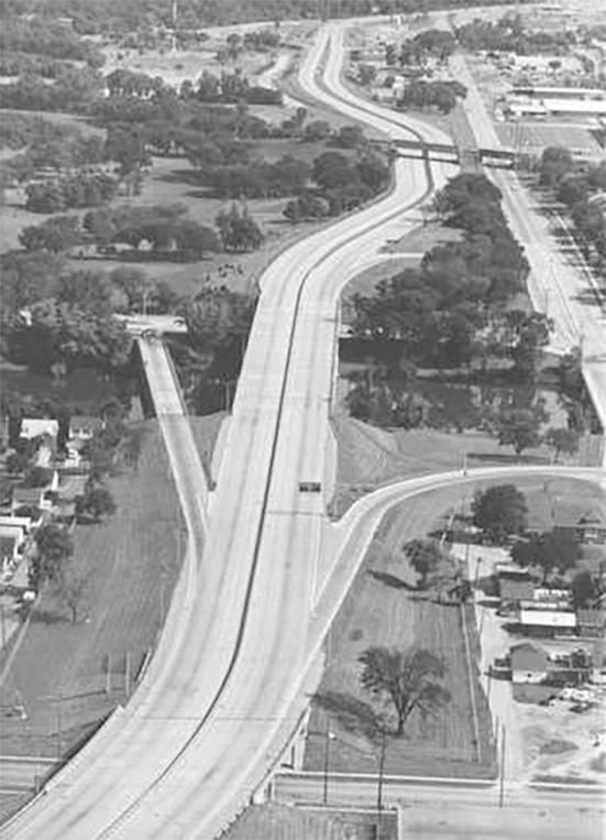 Photo of Curfew during Race Riot Showing Empty Expressway