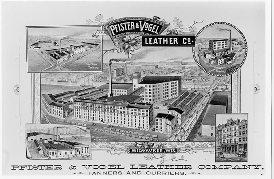 Poster Ad of Pfister and Vogel Tannery