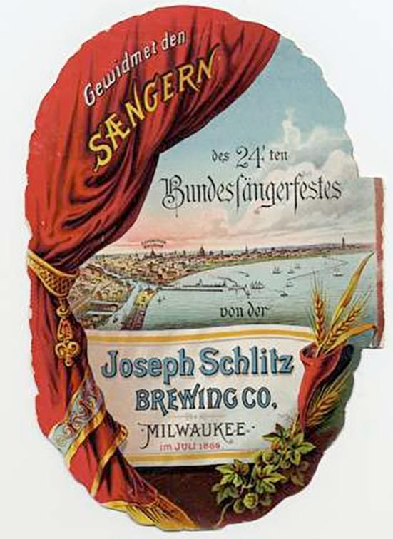 Photo of Schlitz Brewing Company Advertising
