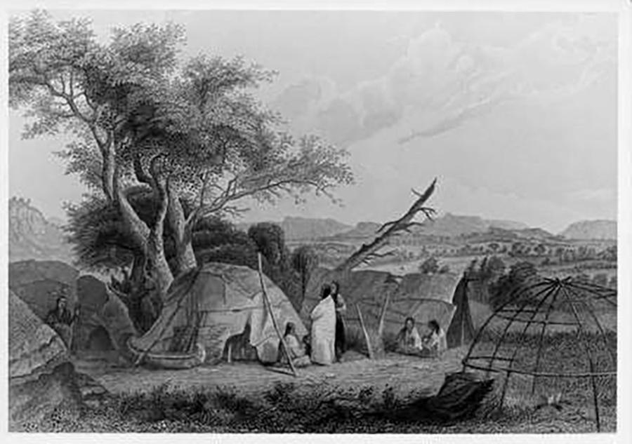 Photo of Native American shelters
