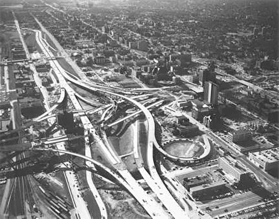 Photo of The Marquette Interchange Nearly Completed in April of 1968