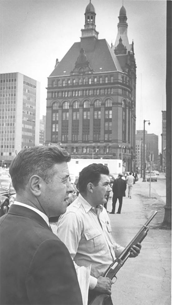Photo of Mayor Maier during Race Riot in July 1967