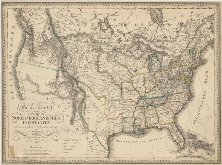 Photo of 1821 Map of United States