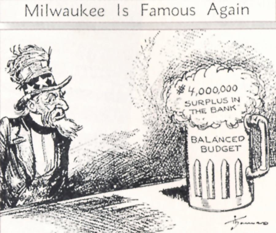A cartoon highlighted the Milwaukee Miracle in 1931