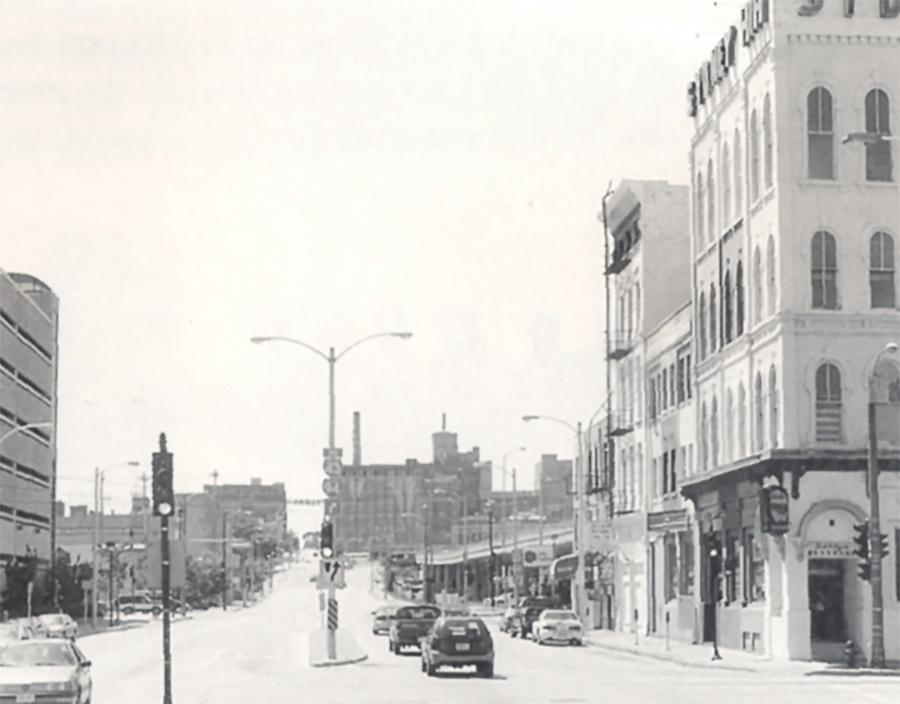 Photo of Corner of Third Street and Juneau Avenue in the 1990s