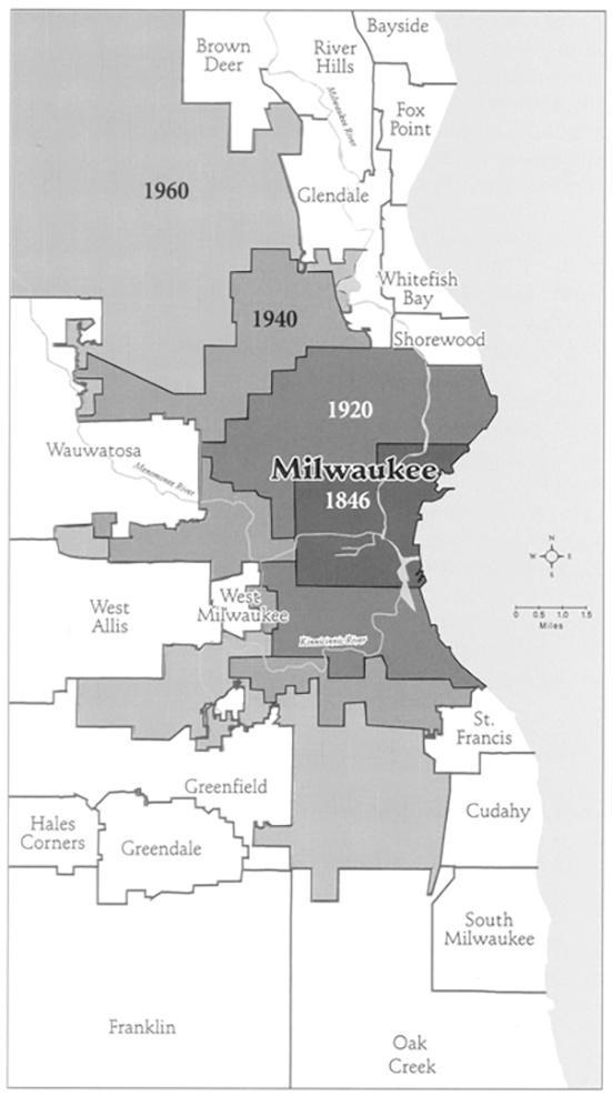Photo of Milwaukee Suburbs Map