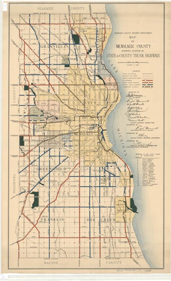 Photo of 1934 Map of Milwaukee