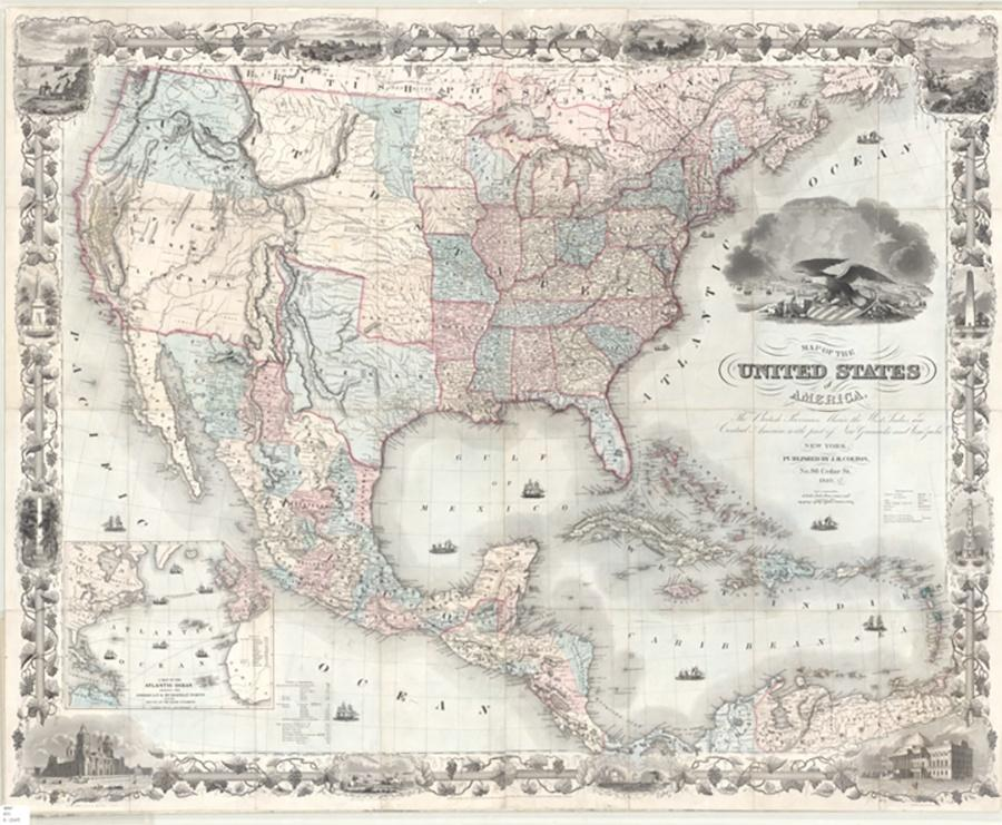 Photo of 1849 Map of United States