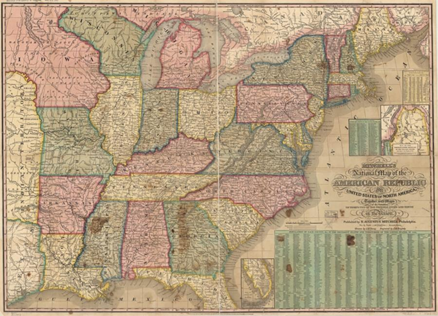 Photo of 1843 Map of United States