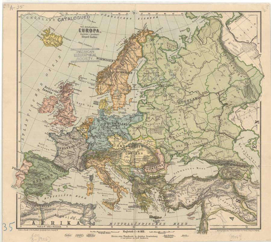 Photo of 1906 Map of Europe