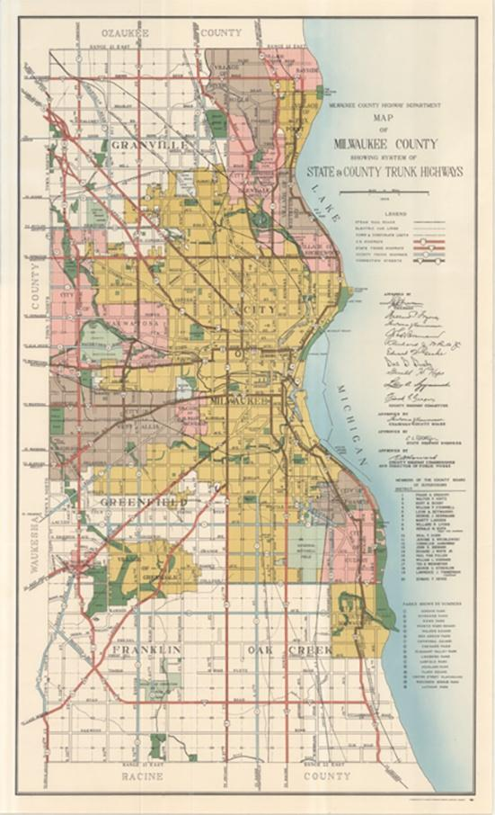 Photo of 1954 Map of Milwaukee
