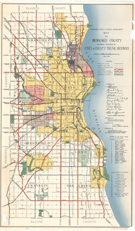Photo of 1950 Map of Milwaukee
