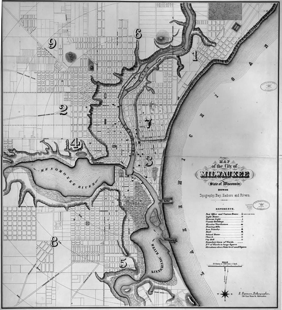 Photo of Milwaukee Early Map