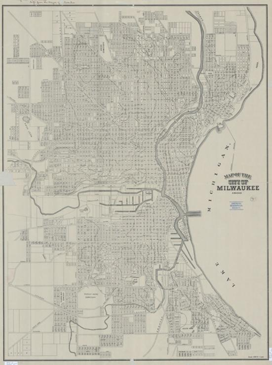 Photo of 1900 Map of Milwaukee