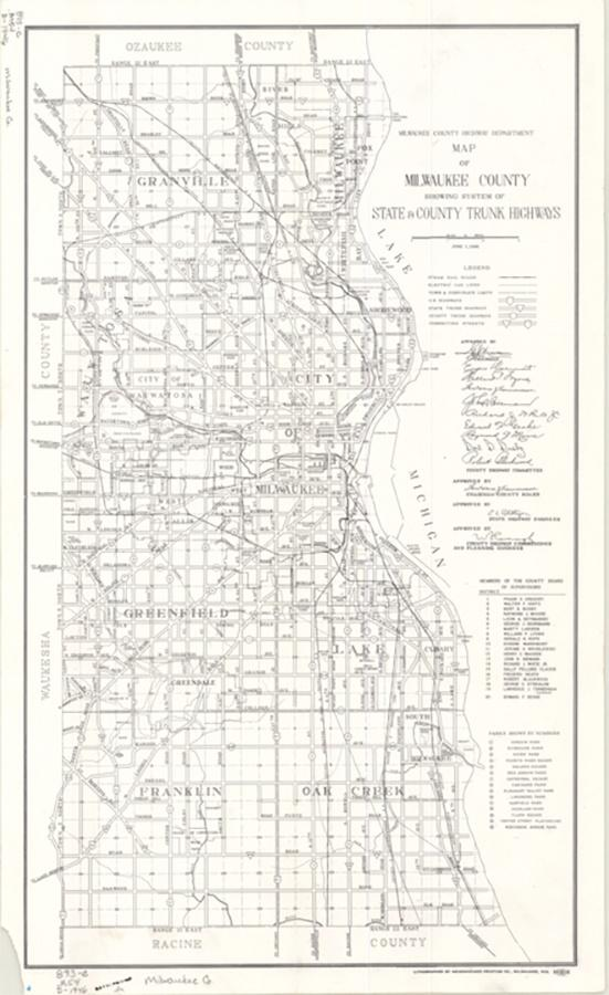 Photo of 1946 Map of Milwaukee