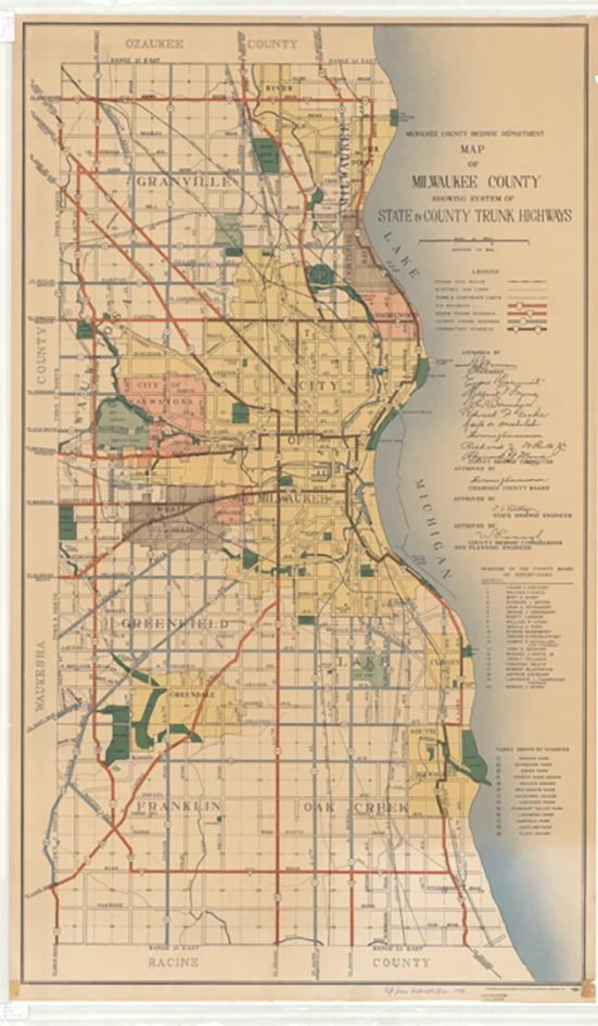 Photo of 1941 Map of Milwaukee